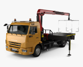 3D model of KamAZ 658625-0010-03 Tow Truck 2018