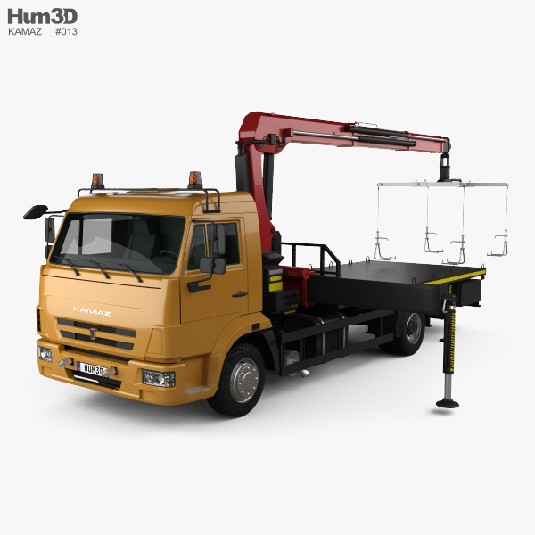 KamAZ 658625-0010-03 Tow Truck 2018 3D model