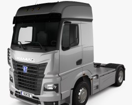 3D model of KamAZ 54901 Tractor Truck 2018
