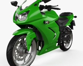 3D model of Kawasaki Ninja 250R 2011