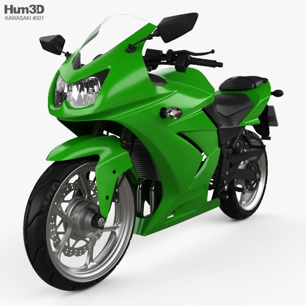 Kawasaki Ninja 250R 2011 3D model