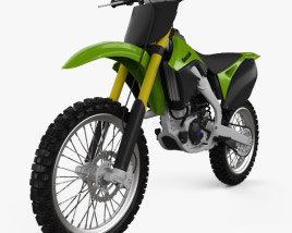 3D model of Kawasaki KX250F 2012