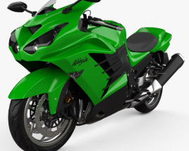 3D model of Kawasaki Ninja ZX-14R 2012