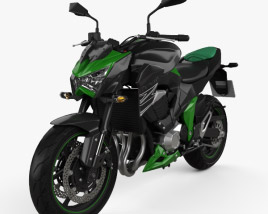 3D model of Kawasaki Z800 2014
