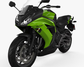 3D model of Kawasaki Ninja 650R (ER-6f) 2014