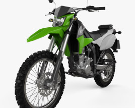 3D model of Kawasaki KLX250 2014