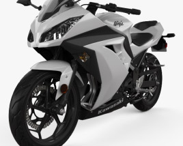 3D model of Kawasaki Ninja 300 2014