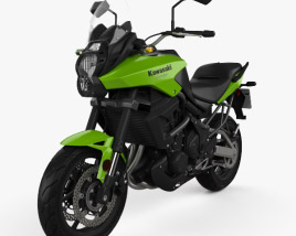 3D model of Kawasaki Versys 2014