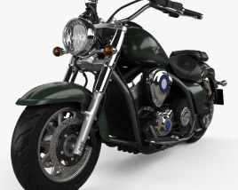 3D model of Kawasaki Vulcan 1700 Classic 2014
