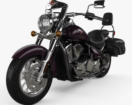 3D model of Kawasaki Vulcan 900 Light Tourer 2014