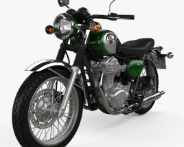 3D model of Kawasaki W800 2014