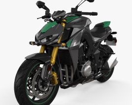 3D model of Kawasaki Z1000 2014