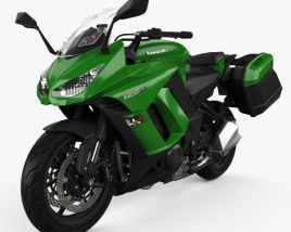 3D model of Kawasaki Z1000SX Tourer 2014