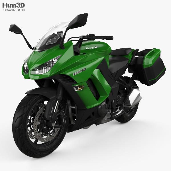 Kawasaki Z1000SX Tourer 2014 3D model