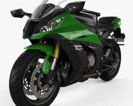 3D model of Kawasaki ZX-10R 2014