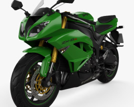 3D model of Kawasaki ZX-6R 2014
