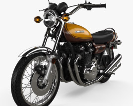 3D model of Kawasaki 900 Z1 Super Four 1973