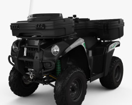 3D model of Kawasaki Brute Force 300 2016