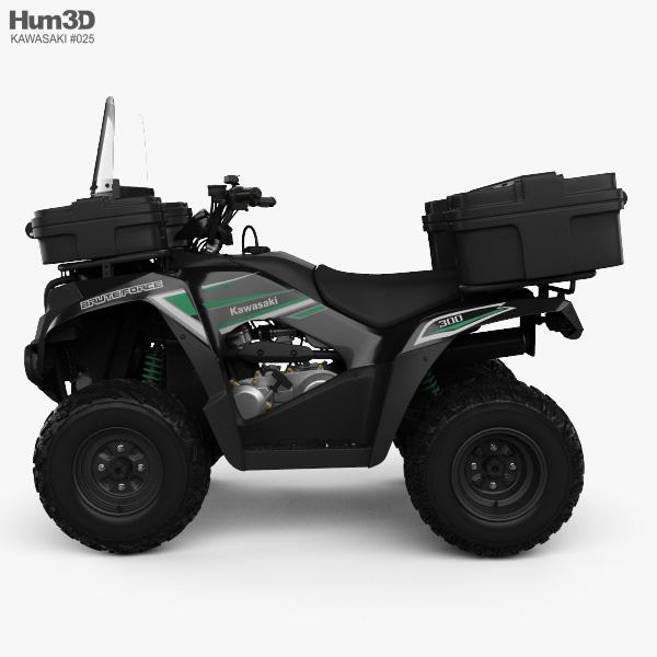 Kawasaki Brute Force 300 2016 3D model