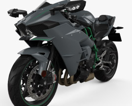 3D model of Kawasaki Ninja H2 2015