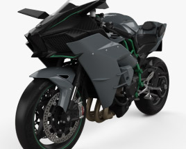 3D model of Kawasaki Ninja H2 R 2015
