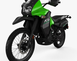 3D model of Kawasaki KLR650 2015