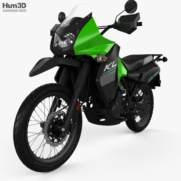 Kawasaki KLR650 2015 3D model