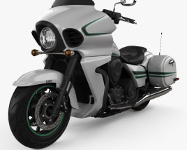 3D model of Kawasaki Vulcan 1700 Vaquero 2015