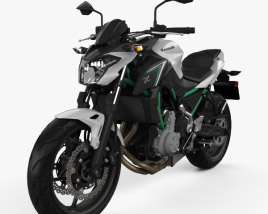 3D model of Kawasaki Z650 2017