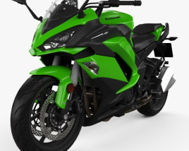 3D model of Kawasaki Z1000SX 2017