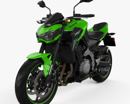 3D model of Kawasaki Z900 2017
