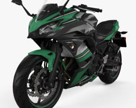 3D model of Kawasaki Ninja 650 2017