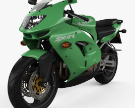 3D model of Kawasaki Ninja ZX-9R 1998
