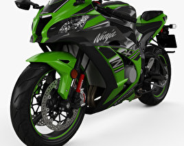 3D model of Kawasaki Ninja ZX-10R 2017
