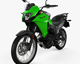 3D model of Kawasaki Versys-X 300 2017