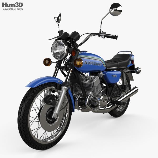 Kawasaki 750 H2 1972 3D model