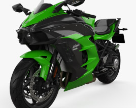 3D model of Kawasaki Ninja H2 SX 2018