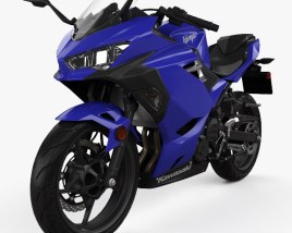 3D model of Kawasaki Ninja 400 2018