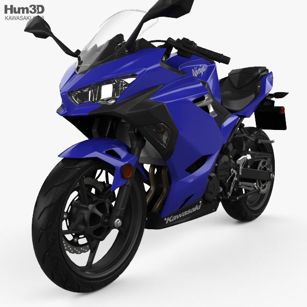 Kawasaki Ninja 400 2018 3D model