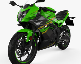 3D model of Kawasaki Ninja 125 2019