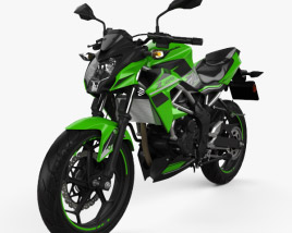 3D model of Kawasaki Z125 2019