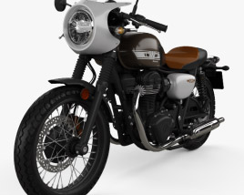 3D model of Kawasaki W800 Cafe 2019