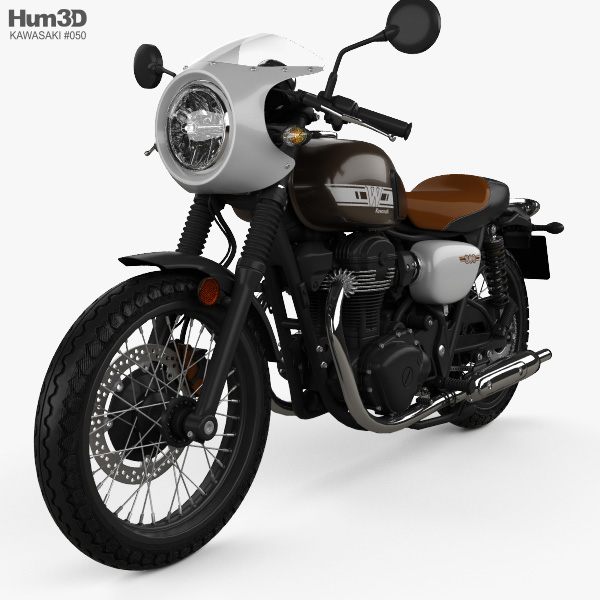 Kawasaki W800 Cafe 2019 3D model
