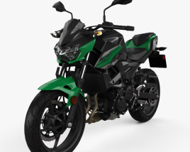 3D model of Kawasaki Z400 2019