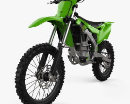 3D model of Kawasaki KX250 2020