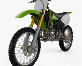 3D model of Kawasaki KX250 2003