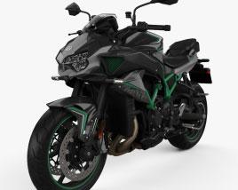 Kawasaki Z H2 2021 3D model