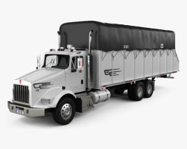 3D model of Kenworth T800 Cotton Truck 2011