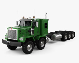 3D model of Kenworth C500 Chassis Truck 5axle 2001