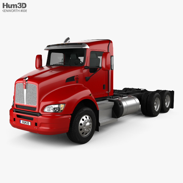 3D model of Kenworth T440 Chassis Truck 3-axle 2009